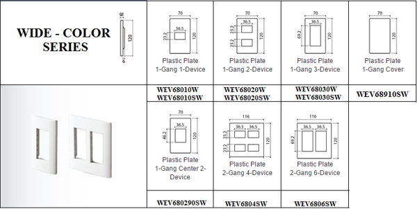 Mặt nạ 2 thiết bị panasonic WEV68020SW WIDE