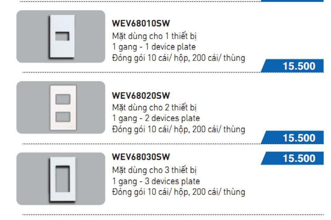 Mặt nạ 3 thiết bị panasonic WEV68030SW WIDE